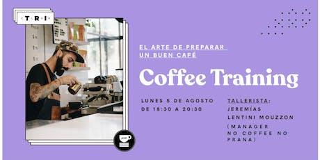 """Talleres Club TRI: """"Coffee Training"""" por Jeremias Lentini Mouzzon (NCNP) entradas"""