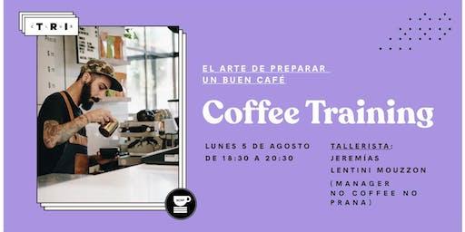 """Talleres Club TRI: """"Coffee Training"""" por Jeremias Lentini Mouzzon (NCNP)"""