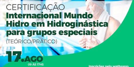 Certificação Internacional em Hidroginástica para grupos especiais ingressos