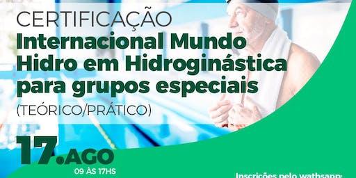 Certificação Internacional em Hidroginástica para grupos especiais
