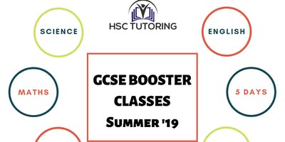 GCSE Booster Classes - August 2019