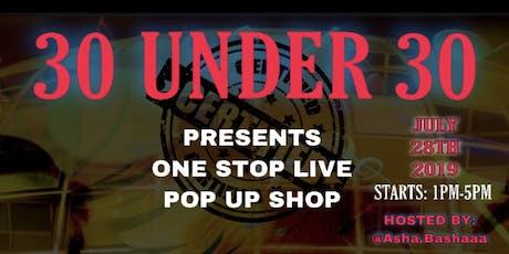 30Under30 Pop-Up Shop  tickets