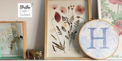 Harrogate Tribe Craft + Cocktails: Embroidery Hoop Workshop