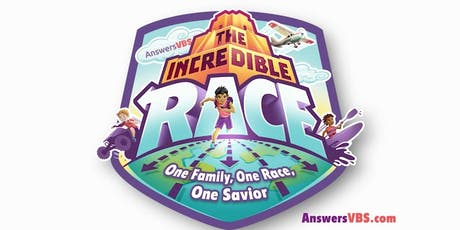 """2019  FBC """"The Incredible Race"""" VBS tickets"""