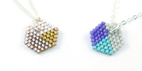Hexagon Brick Stitch Pendant Workshop  tickets