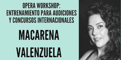 OPERA WORKSHOP: Entrenamiento para Audiciones y Concursos Internacionales