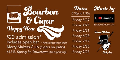 Bourbon & Cigar at Merry Makers - July