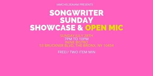 Songwriter Sunday Showcase & Open Mic