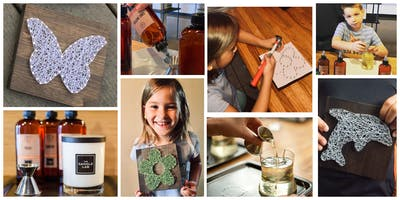 Kids Candle & String Art Workshop!