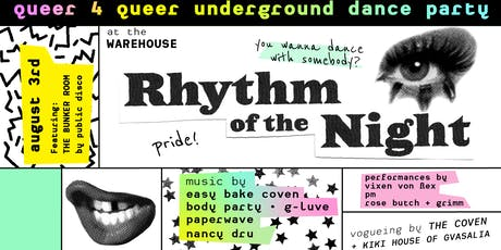 RHYtHM of the NiGHT pride // 90s club kids & 80s gay bar gold tickets