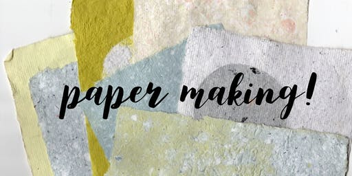 Paper Making with Leslie Reyes!