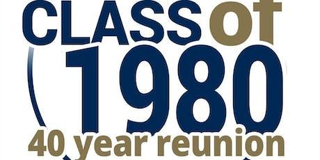 Roosevelt Class of 80 40th Year Class Reunion tickets