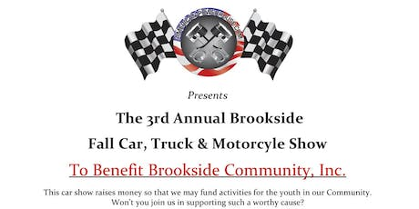 The 3rd Annual Brookside Fall Car, Truck & Motorcycle Show tickets