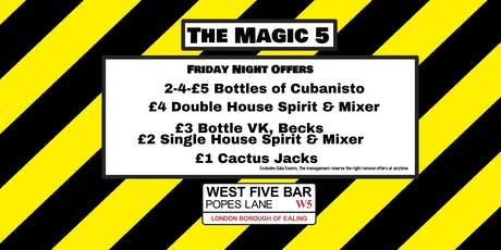 The Magic 5 with DJ Robby D tickets