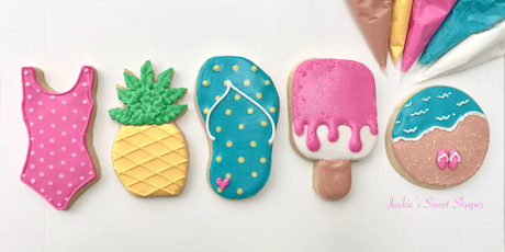 Beach Themed Cookie Decorating Class-EVENING Session tickets