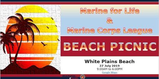 Marine for Life & Marine Corps League Beach Picnic