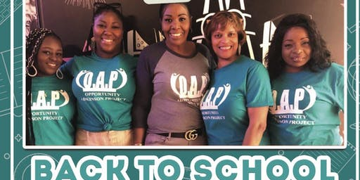 Opportunity Adkinson Project Back to School Book Bag Drive BBQ