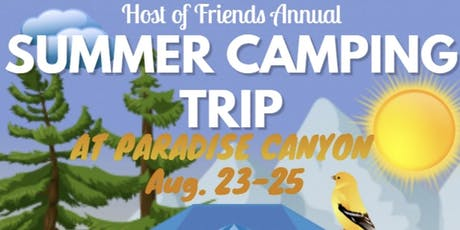 HOST OF FRIENDS ANNUAL SOBER CAMPING TRIP tickets