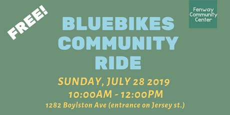 Free Bluebikes Community Ride  tickets