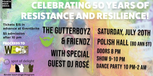 The GutterBoyz & Friendz-Celebrating 50 years of resistance and resilience!