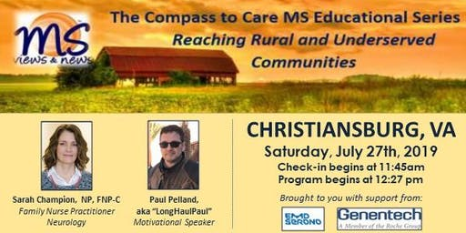 MULTIPLE SCLEROSIS Event in Christiansburg, VA: The Compass to Care
