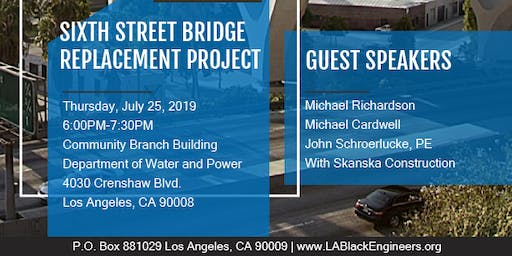 Presentation Sixth Street Bridge Replacement Project Downtown Los Angeles