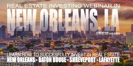 Real Estate Investing Webinar Orientation  tickets