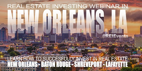 Real Estate Investing Webinar Orientation  tickets