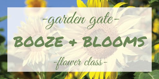 Booze & Blooms - Sunflower Arrangement