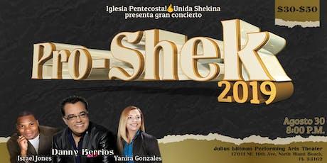 Pro-Shek 2019 Concierto con Danny Berrios | Israel Jones |  Yanira Gonzales tickets