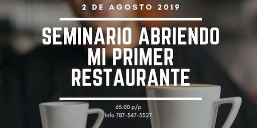 Seminario Abriendo Mi Primer Restaurante