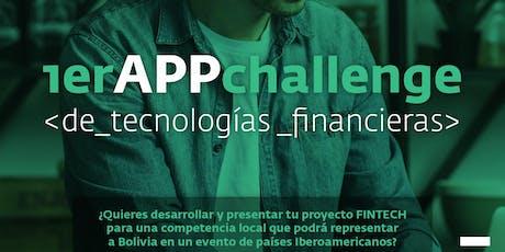 1er App Challenge de tecnologías financieras de la Bolsa Boliviana de Valores entradas