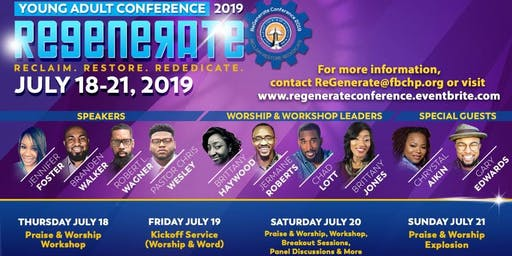 FREE!!! ReGenerate  Young Adult Conference 2019