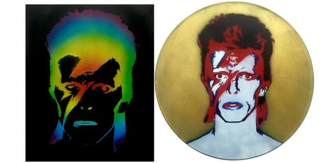 Bowie : Stencil Art Painting Class Now with More Stencils!  tickets