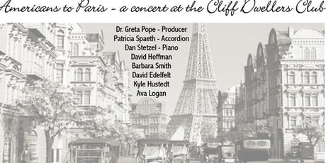 Americans to Paris Roadshow at the Cliff Dwellers tickets
