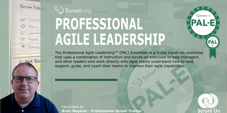 Professional Agile Leadership Essentials - Melbourne tickets