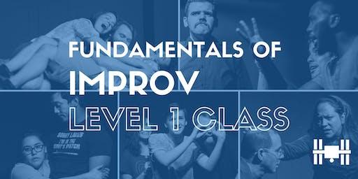 Class: Level 1 - Fundamentals of Long-Form Improv (Mondays 6-8pm; 9 weeks)