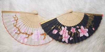 Cherry Blossom Painting Class: On Silk Fans!
