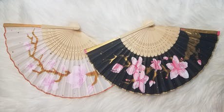 Cherry Blossom Painting Class: On Silk Fans! tickets