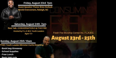 FFWC Back 2 School Youth & Young Adult Conference 2019: Consuming Fire tickets