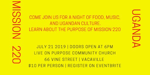 Mission 220: Uganda Community Dinner