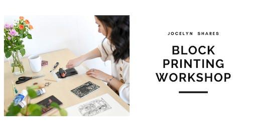 Linocut Block Printing Workshop