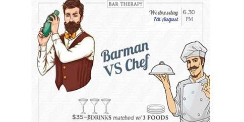 THE BARMAN VERSUS THE CHEF