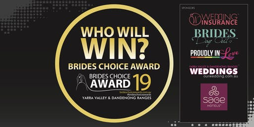 Yarra Valley & Dandenong Ranges Brides Choice Awards Gala Cocktail Party 2019