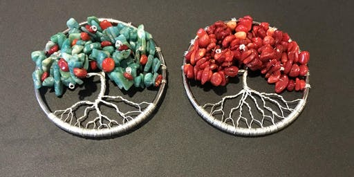 Make your own Tree-of-Life pendant with natural gemstones!