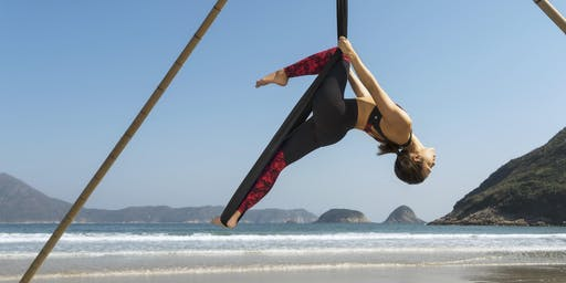 Beach Aerial Yoga Workshop - beginners (3rd, 4th, 10th, 11th, 17th, 18th August)