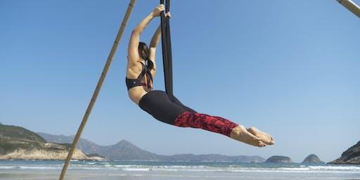 Aerial beach yoga - intermediate/advanced (3rd, 4th, 10th. 11th, 17th, 18th August)