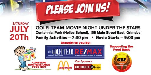 The Golfi Team Movie Night in the Park