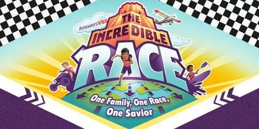 Vacation Bible School - The Incredible Race: July 21-23