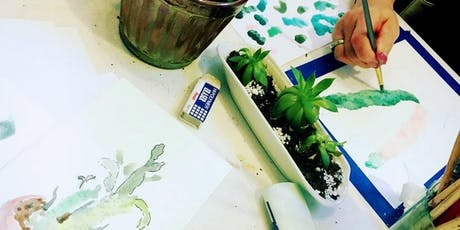 Watercolor Painting on the Patio at Laughing Sun tickets